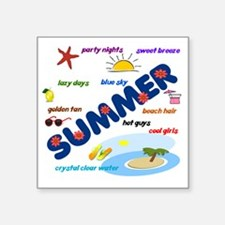 "summer38x8 Square Sticker 3"" x 3"""