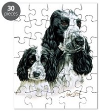 Cocker  Pup B  W Puzzle