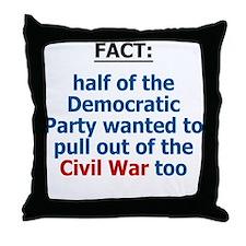 Civil War, Iraq War Throw Pillow