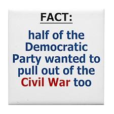 Civil War, Iraq War Tile Coaster
