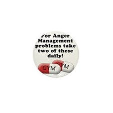 anger-management Mini Button