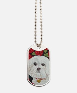 MaltValentine5x7V Dog Tags
