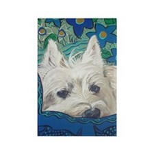 Westie5x7V Rectangle Magnet