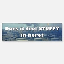 Does it feel stuffy in here? Bumper Car Car Sticker