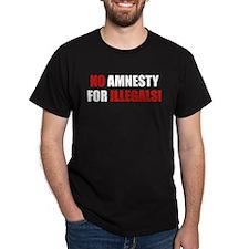 No Amnesty for Illegals Black T-Shirt
