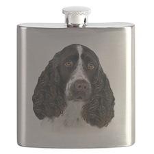 English Springer Spaniel Portrait Flask