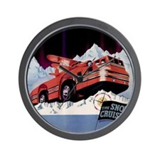 Snow Cruiser 2000x2000 Wall Clock