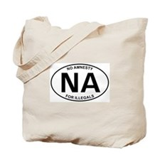 No Amnesty Oval Design Tote Bag