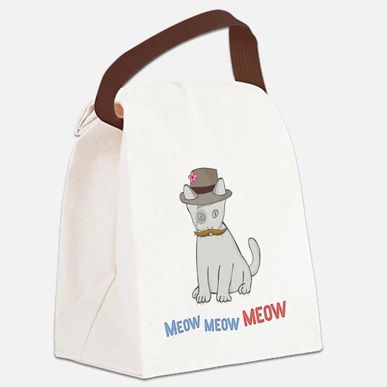Mittens-D1-BlackApparel Canvas Lunch Bag