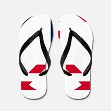 American Flag Peace Sign Betsy Ross Tra Flip Flops