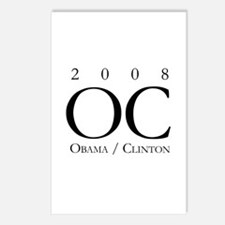 OC / Obama and Clinton 2008 Postcards (Package of