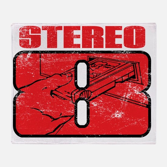 Stereo8_distress Throw Blanket