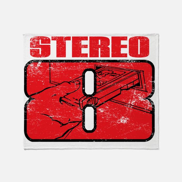 Stereo8_distress Throw Blanket