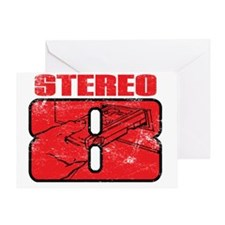 Stereo8_distress Greeting Card