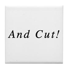 And Cut! Tile Coaster