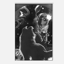Collies In Space Postcards (Package of 8)