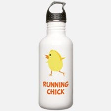 Running Chick Orange Water Bottle