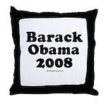 Barack Obama 2008 Throw Pillow