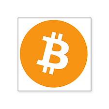 """Bitcoin1 Square Sticker 3"""" x 3"""""""