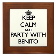 Keep Calm and Party with Benito Framed Tile