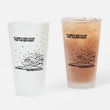 NoCrimeTransparentBGBlack Drinking Glass