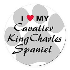 cavalier-king-charles-spaniel Round Car Magnet