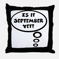 is it sept Throw Pillow