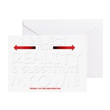 reject_your_reality_darkshirt Greeting Card