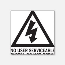 "DangerElectricShockRisk1 Square Sticker 3"" x 3"""