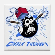 Chalk Therapy (dark shirt) Tile Coaster
