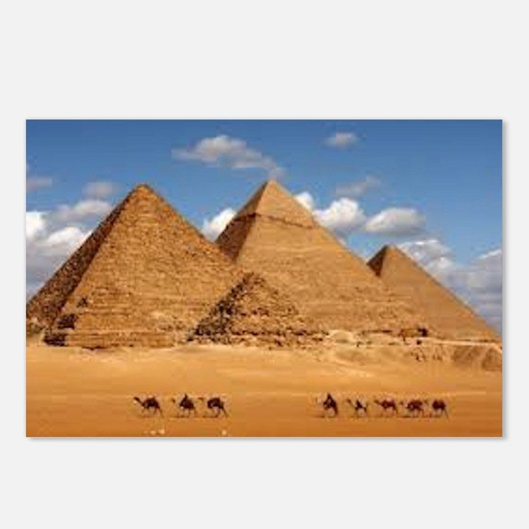 Pyramids of Egypt Postcards (Package of 8)