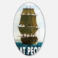 Boat_people Sticker (Oval)