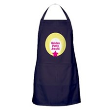 Golden potty award pink Apron (dark)