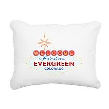 EVERGREEN DARK Rectangular Canvas Pillow