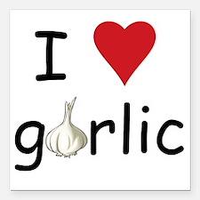 "garlic Square Car Magnet 3"" x 3"""