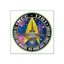 "Enterprise-Patch-To-Bodly-G Square Sticker 3"" x 3"""