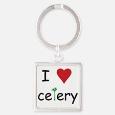 celery Square Keychain