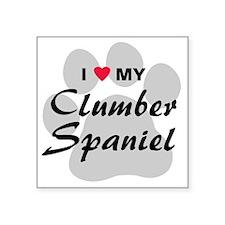 "clumber-spaniel Square Sticker 3"" x 3"""