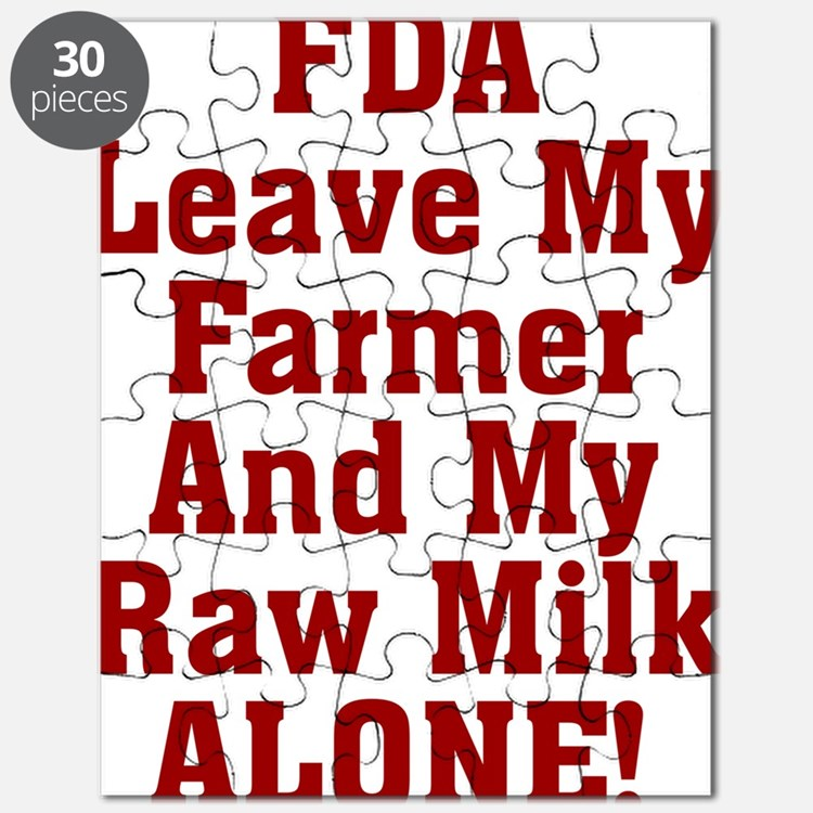 Leave My Farmer And My Raw Milk Alone Puzzle