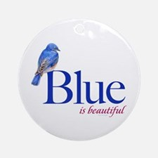 blue is beautiful Ornament (Round)