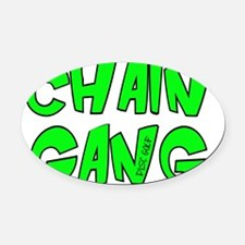 CHAINGANG Oval Car Magnet