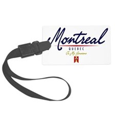 Montreal Script W Luggage Tag
