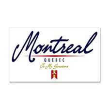Montreal Script W Rectangle Car Magnet