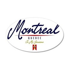Montreal Script W 35x21 Oval Wall Decal