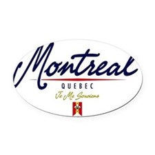 Montreal Script W Oval Car Magnet