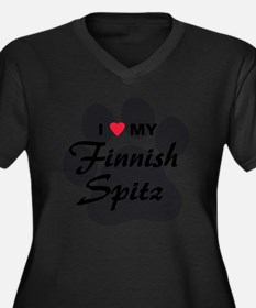 finnish-spit Women's Plus Size Dark V-Neck T-Shirt