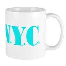 I Bike NYC transp Blue Mug