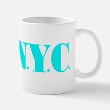 I Bike NYC transp Blue Mug