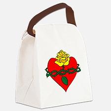 sacred heart filled Canvas Lunch Bag