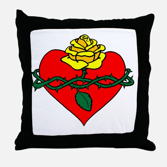 sacred heart filled Throw Pillow